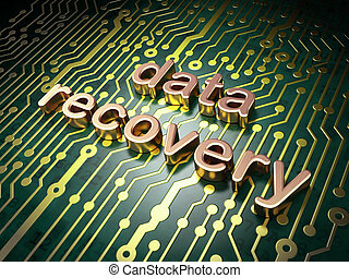 Information concept: circuit board with word Data Recovery