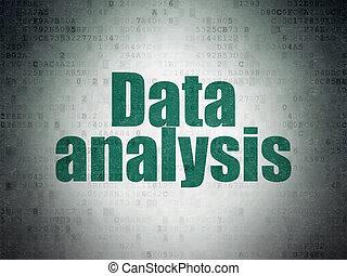 Information concept: Data Analysis on Digital Data Paper background