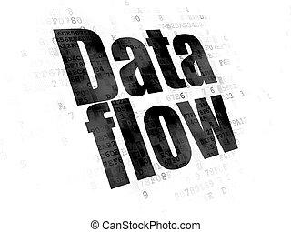 Information concept: Data Flow on Digital background