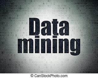 Information concept: Data Mining on Digital Paper background