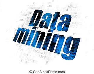 Information concept: Data Mining on Digital background