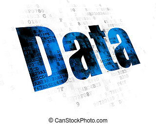 Information concept: Data on Digital background