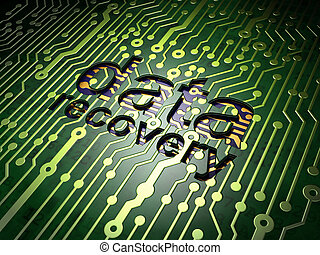 Information concept: Data Recovery on circuit board background