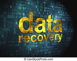 Information concept: Data Recovery on digital background