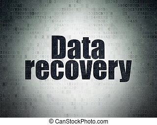 Information concept: Data Recovery on Digital Paper background