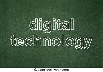 Information concept: Digital Technology on chalkboard background