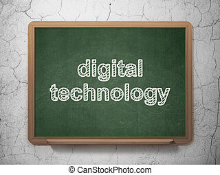 Information concept: Digital Technology on chalkboard background