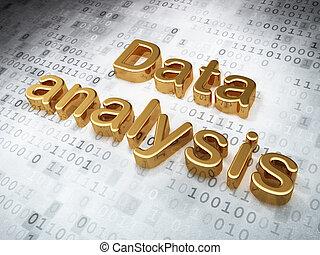 Information concept: Golden Data Analysis on digital background
