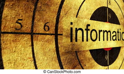 information, concept, grunge, cible