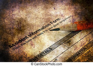 information, concept, grunge, formulaire, accident