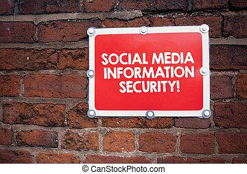 information, concept, média, multimédia, écriture, security., signification, sécurité, ligne, social, écriture, texte, services.