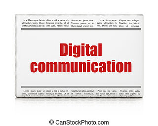 Information concept: newspaper headline Digital Communication