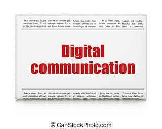 Information concept: newspaper headline Digital Communication