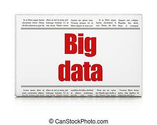 Information concept: newspaper headline Big Data