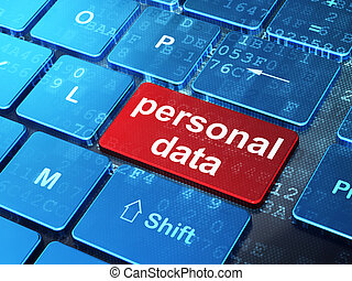 Information concept: Personal Data on computer keyboard background