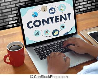 information, concept, publication, média, contenu, commercialisation, données, blogging, vision