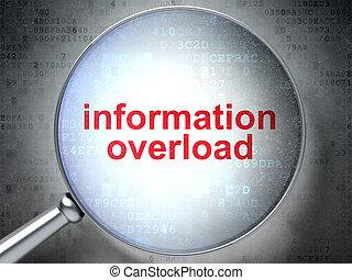 information, concept:, surcharge information, à, optique, verre