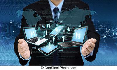 information, concept, technologie, internet