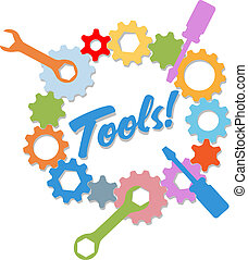 information, conception, technologie, outils