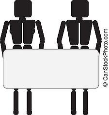 information, couple, planche