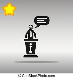 information desk black Icon button logo symbol
