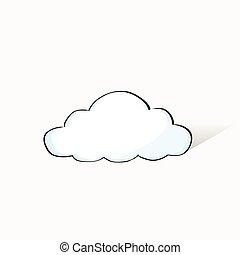 information, dessiner, concept, griffonnage, stockage, croquis, main, technologie internet, données, nuage