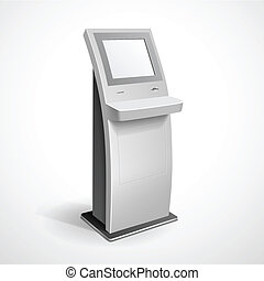 Information Display Monitor Terminal Stand - Vector...