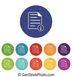 Information document icon set