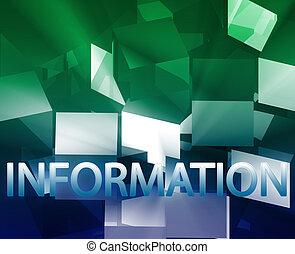 information, données, structures