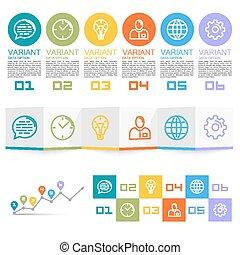 information, ensemble, icônes