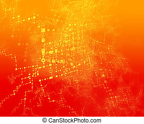 Information exchange - Abstract background of technical data...