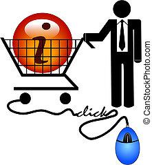 information, faire courses ligne