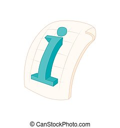 Information file icon in cartoon style