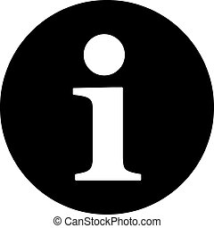 Information flat black color icon