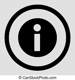 Information flat black color rounded vector icon