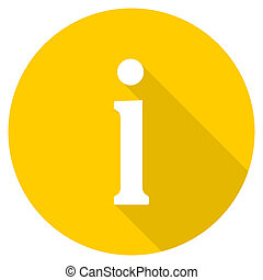 information flat design yellow web icon