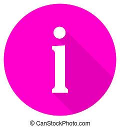 information flat pink icon