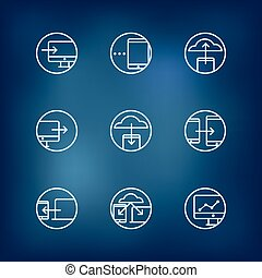 Information fransfer concept icons collection