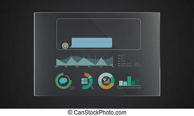 information, graphique, 'message', application, utilisateur, numérique, interface, technologie, exposer, panneau