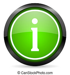 information green glossy icon on white background