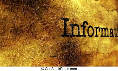 Information grunge concept
