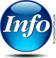 Information Icon - Blue generic glossy information icon