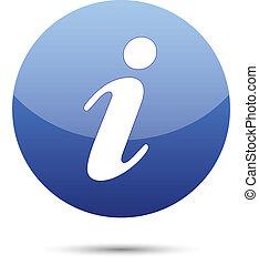 information icon button on white