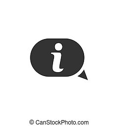 Information icon flat
