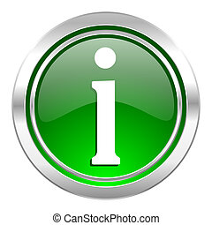 information icon, green button