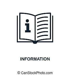 Information icon. Monochrome style design from business icon collection. UI. Pixel perfect simple pictogram information icon. Web design, apps, software, print usage.