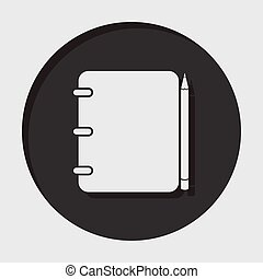 information icon - notepad with pencil