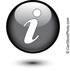 Information icon on black button