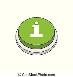 Information icon on green button
