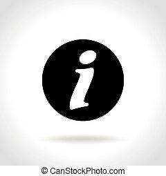 information icon on white background - Illustration of...